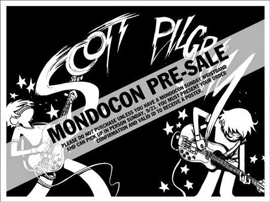 "MondoCon 2014 Exclusive ""Scott Pilgrim"" Screen Print by Bryan Lee O'Malley"