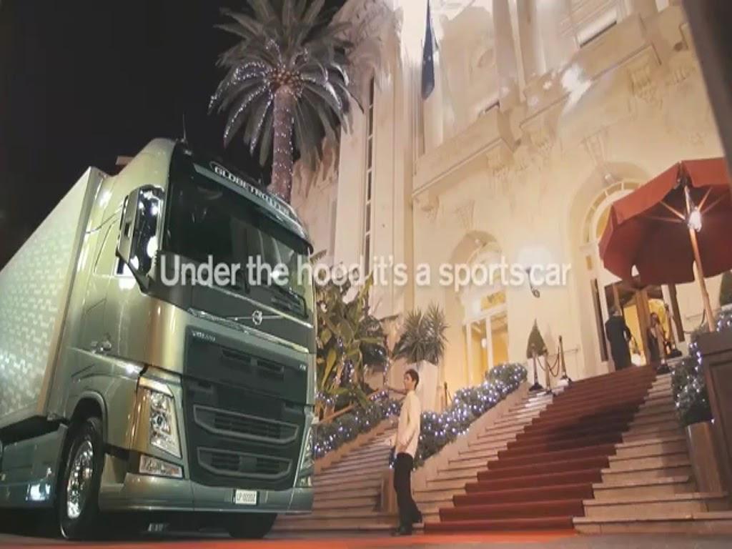 quảng cáo mẫu xe tải mới của VOLVO