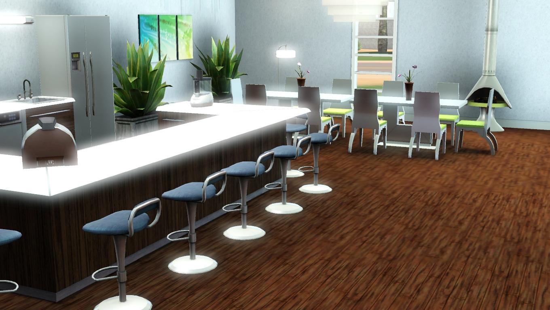 Maison de sims for Grande cuisine ouverte