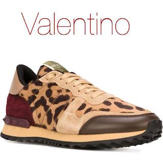 tenis onca leopard print valentino