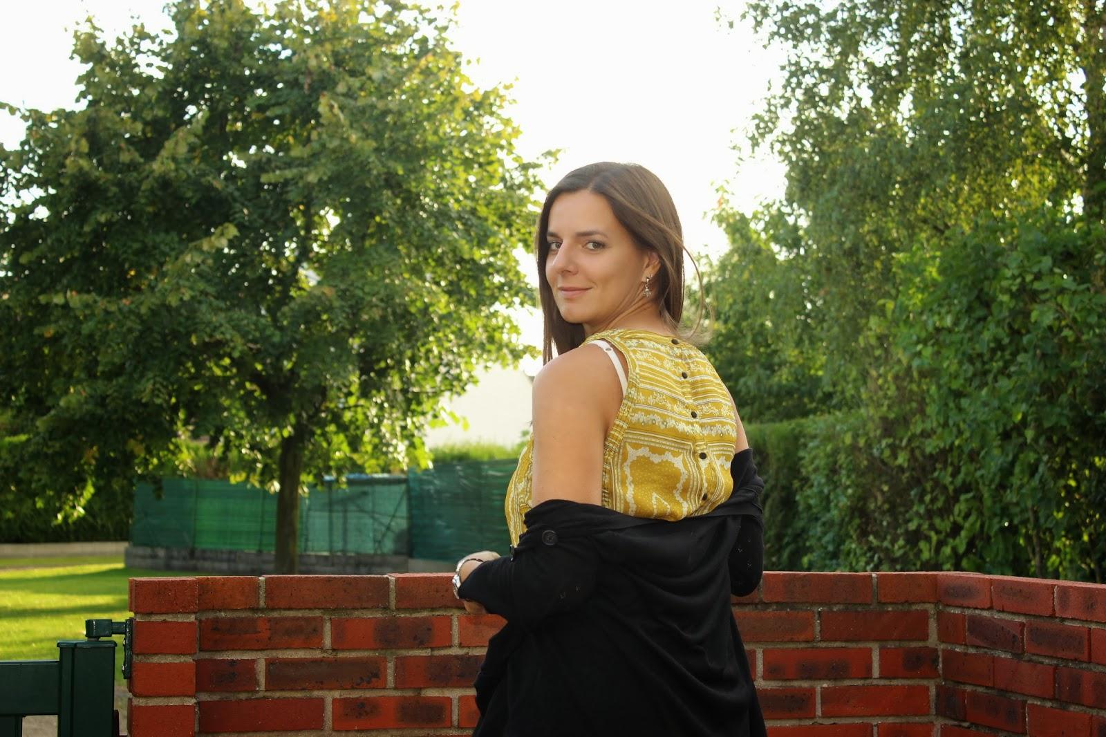 Robe bicolore jaune brocard See u soon