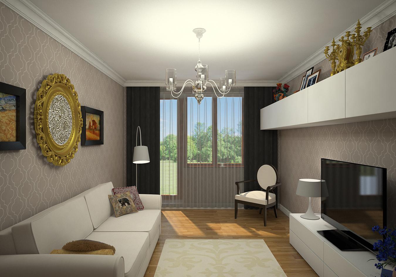 5 Дизайн зала 16 кв