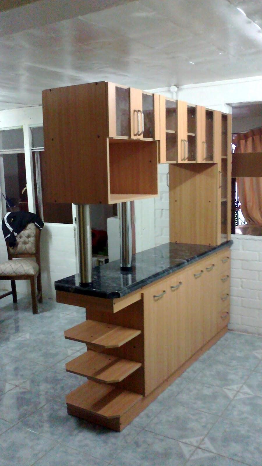 Silva e hijos mueble cocina americana for Mueble persiana cocina