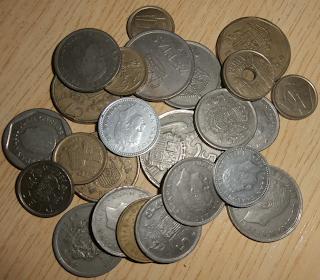 Foto de algunas monedas que guardé.