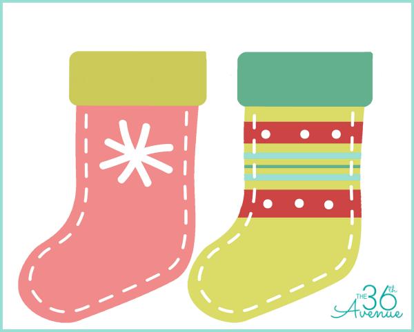 Calcetines navideños imprimibles gratis para chuches4