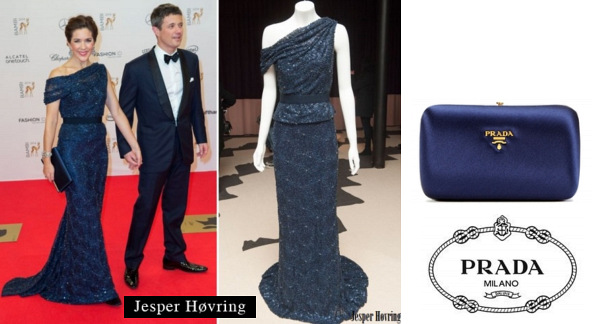 Princess Mary's JESPER HOVRING Dress And PRADA Satin Box Clutch