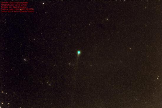 Cometa Lovejoy (C/2014 Q2) - El cielo de Rasal