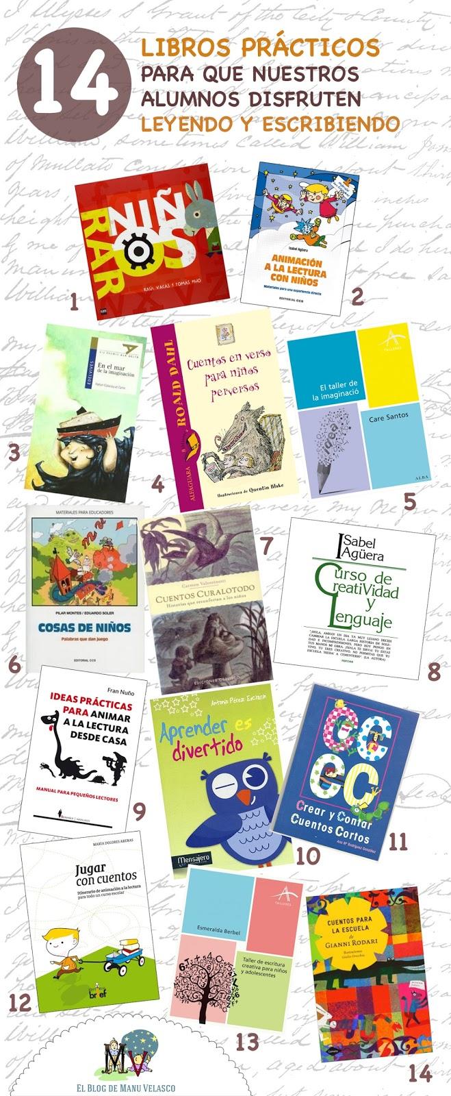 14 LIBROS PRÁCTICOS PARA QUE NUESTROS ALUMNOS DISFRUTEN LEYENDO Y ESCRIBIENDO
