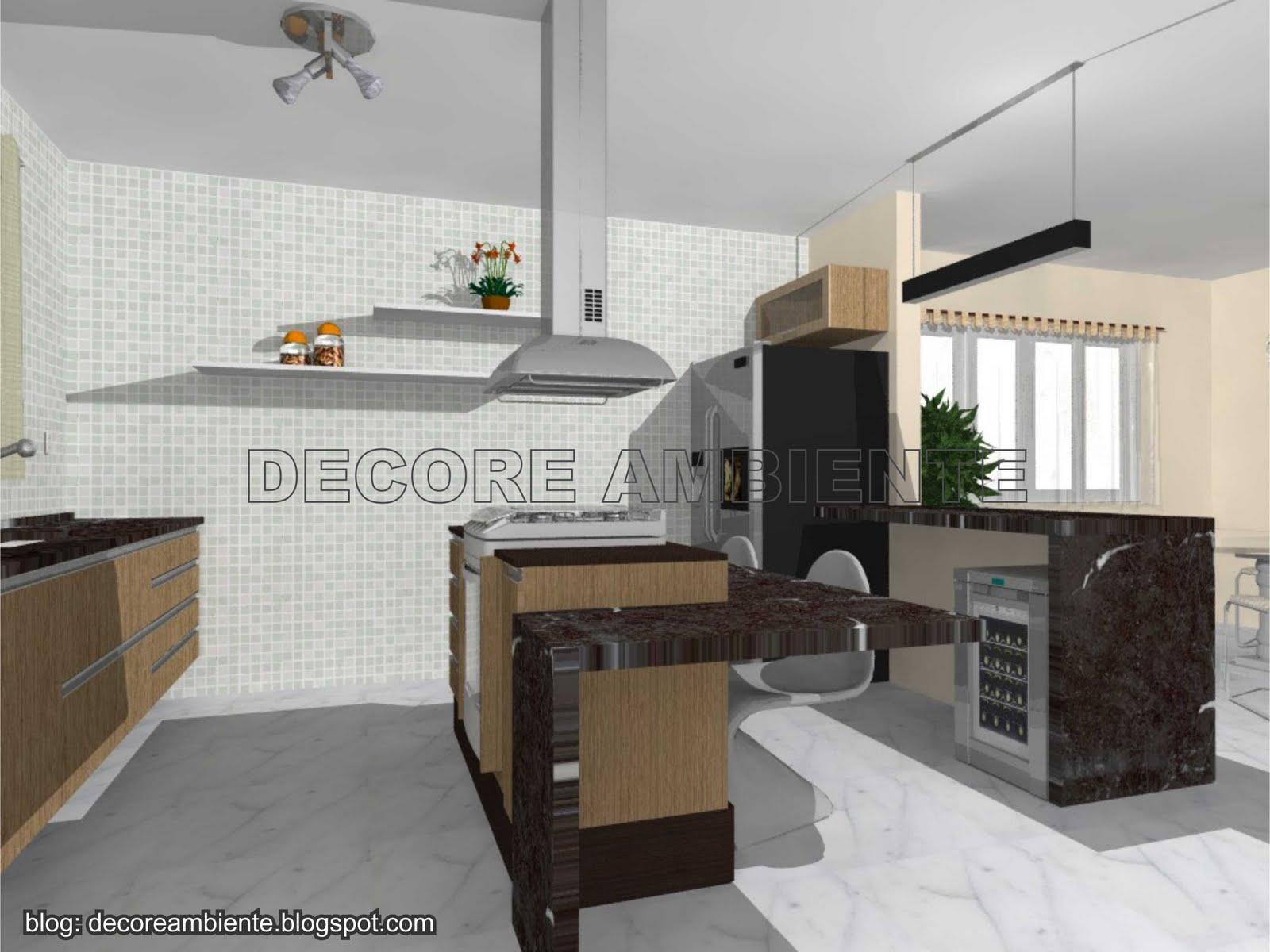 Cozinha Planejada Com Sala Conjugada Beyato Com V Rios Desenhos  -> Cozinha Com Sala Conjugada