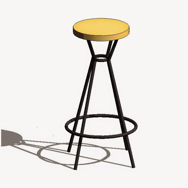 Asientos de bar y taburetes rfa arquihoy revit - Asientos para taburetes ...