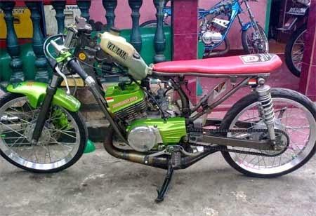 gambar modifikasi drag motor RX King