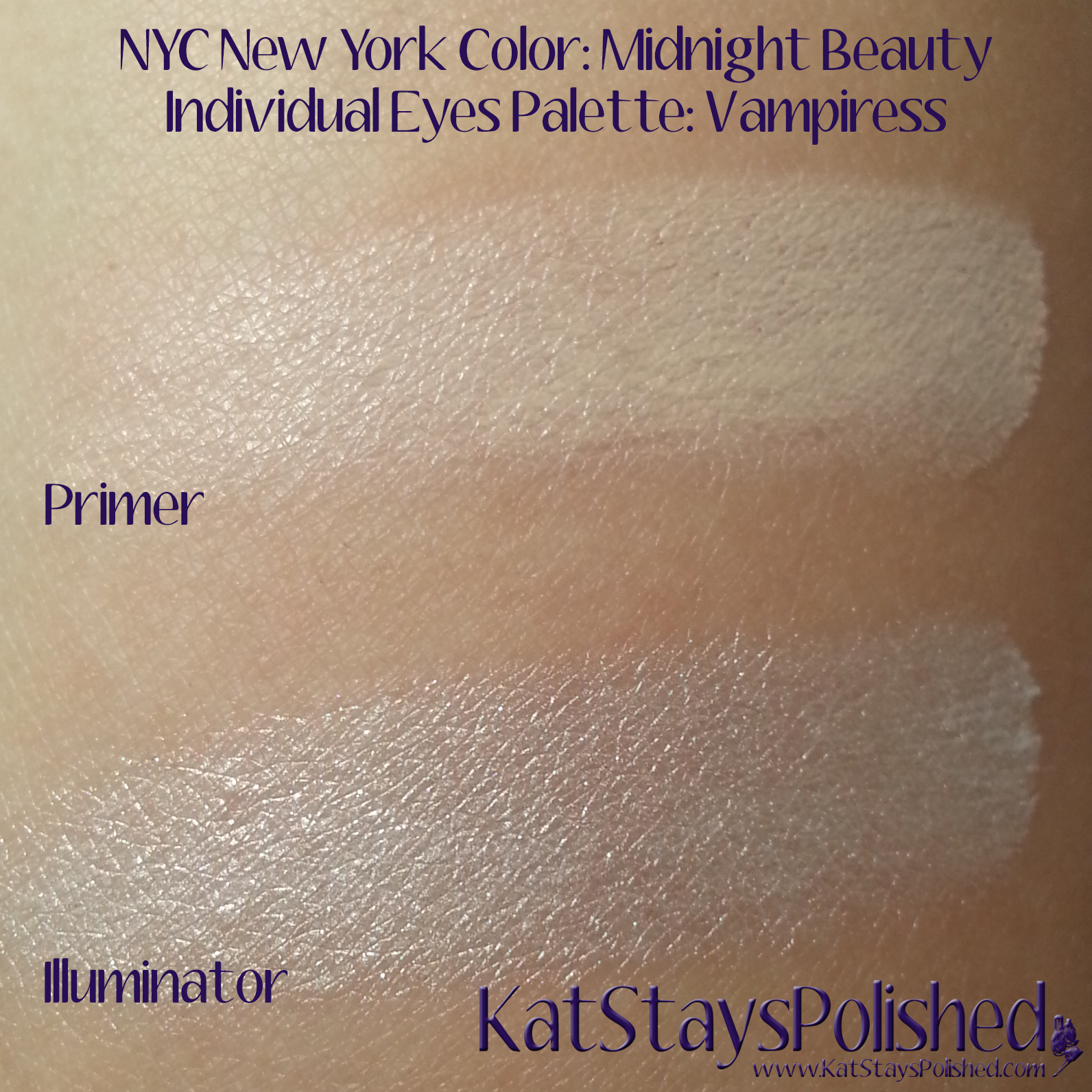 NYC New York Color: Midnight Beauty Individual Eyes Palette - Vampiress | Kat Stays Polished