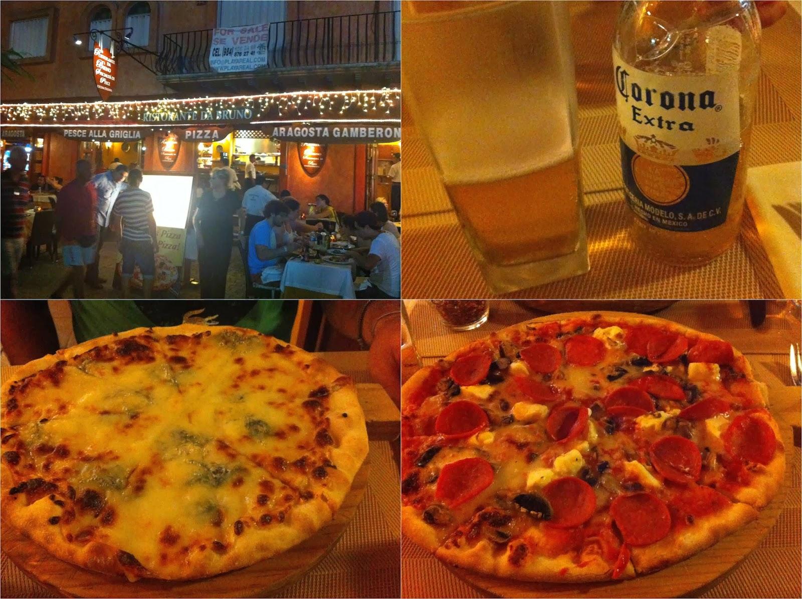 Restaurante da Bruno, pizzaria, pizza, Playa Del Carmen, México, Caribe, playa, cerveja