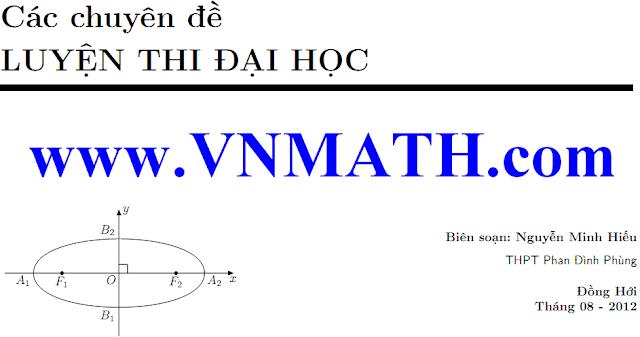 12 chuyên đề toán luyện thi đại học năm 2013 của Nguyễn Minh Hiếu