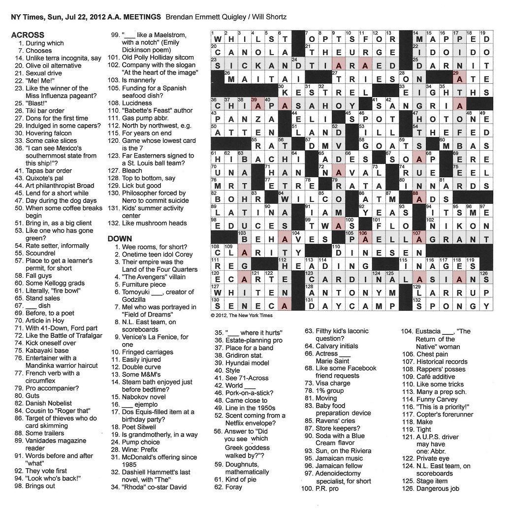 Spongy Cake Crossword
