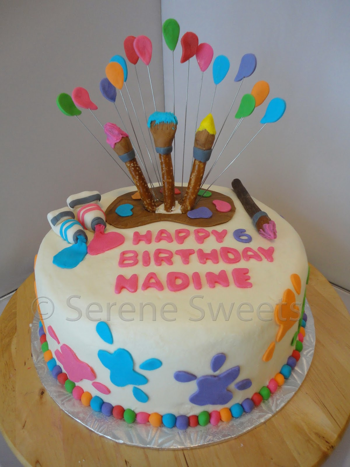 Cake Ideas For Artist : Serene Sweets: Little Artist Cake that s also a Rainbow cake!