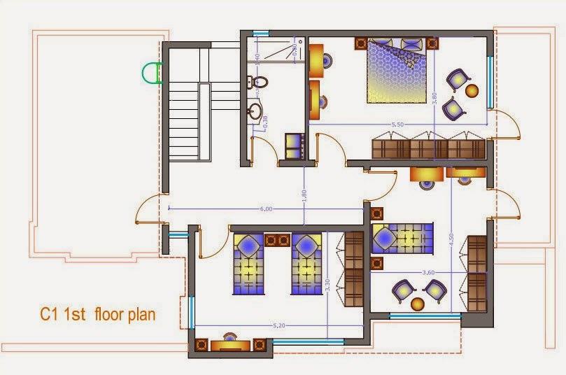 Modern two story villa details 300 msq 15m x 20m for 2 story villa floor plans