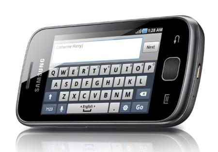 Samsung Galaxy Gio full view