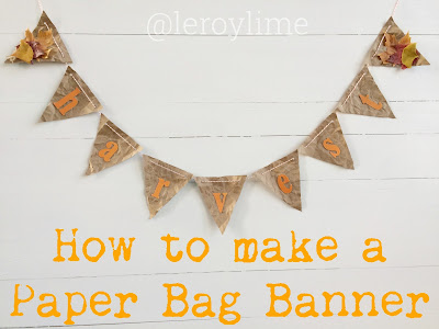 How to make a Paper Bag Banner - LeroyLime