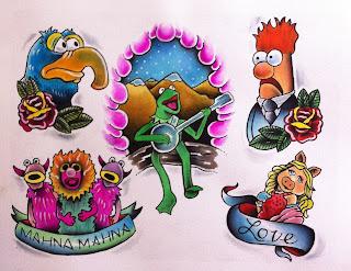 galactus jughead archie comics marvel marvel comics comic books fan art fan tattoo tattoo design cincinnati tattoo cinncinnati tattooist cincinnati tattoo artist thhe muppets kermit beaker miss piggy puppets gonzo muppet tattoo