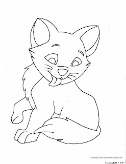 Kitty Cat Coloring Pages