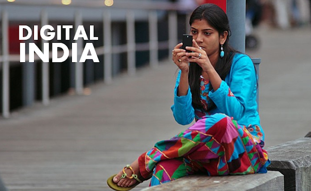 Digital india girl mobile