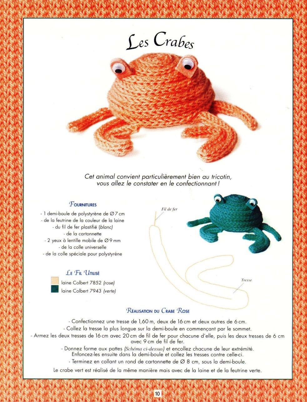 Caranguejo em crochet