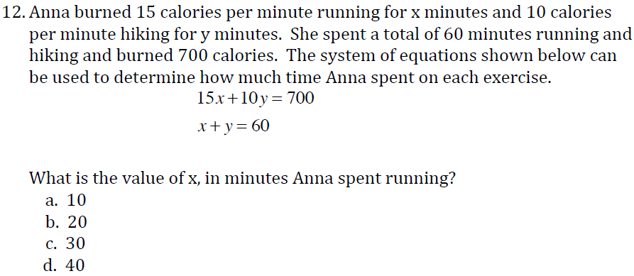 Math Problems For 11th Graders on Take The Sbac Th Grade Practice Math Test 11th