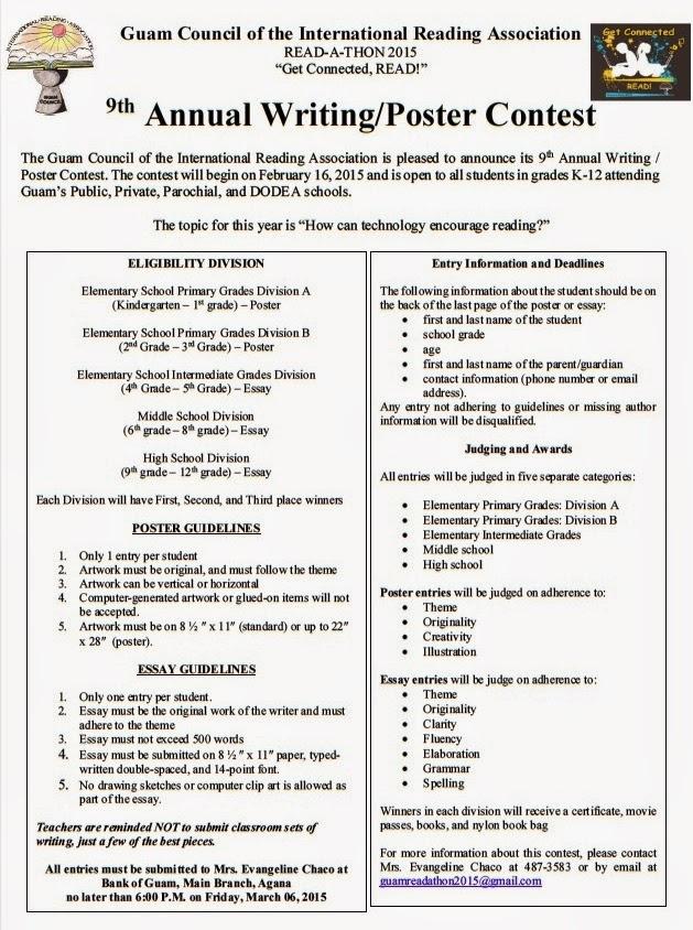 Guam Council IRA Writing/Poster Contest