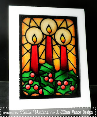 Kecia Waters, Copic markers, stained glass, UTEE