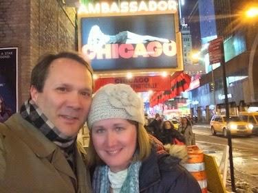 Chuck and Lori's Travel Blog - Chuck and Lori at the Ambassador Theatre