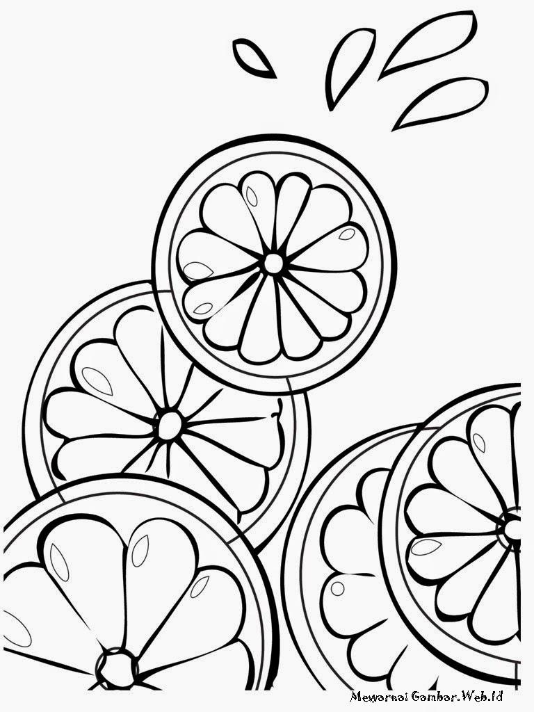 Gambar Jeruk Limo Untuk Diwarnai