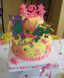 Cute Barney Birthday Cake