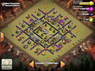 Base TH8 COC Kotak