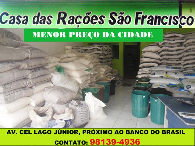 CASA DAS RAÇÕES SÃO FRANCISCO - O MENOR PREÇO DA CIDADE