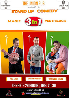 Stand-Up Comedy Magie si Ventrilocie Sambata 29 August in Codlea