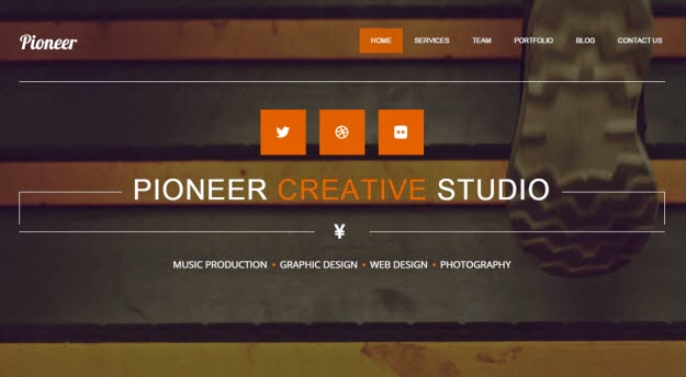 Pioneer - One Page Drupal Theme