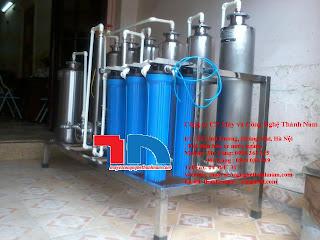 Máy lọc độc tố rượu 2 đơn nguyên, máy lọc đa tầng, máy lọc rượu.
