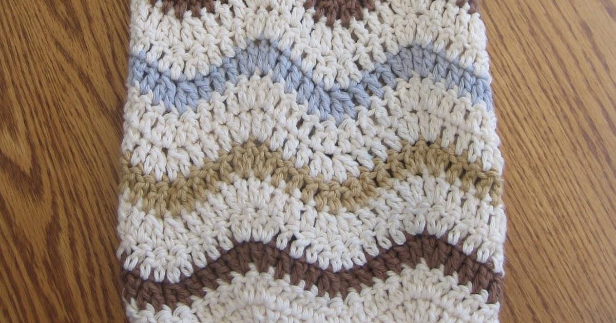 CROCHET N PLAY DESIGNS Free Crochet Pattern Lazy Wave Hand Towel Adorable Lazy Wave Crochet Pattern