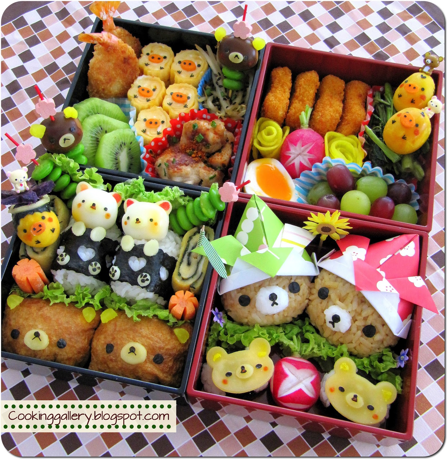 adorable rilakkuma bento cooking gallery. Black Bedroom Furniture Sets. Home Design Ideas