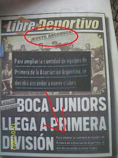 Boca Juniors Ascendió a primera divicion por Decreto