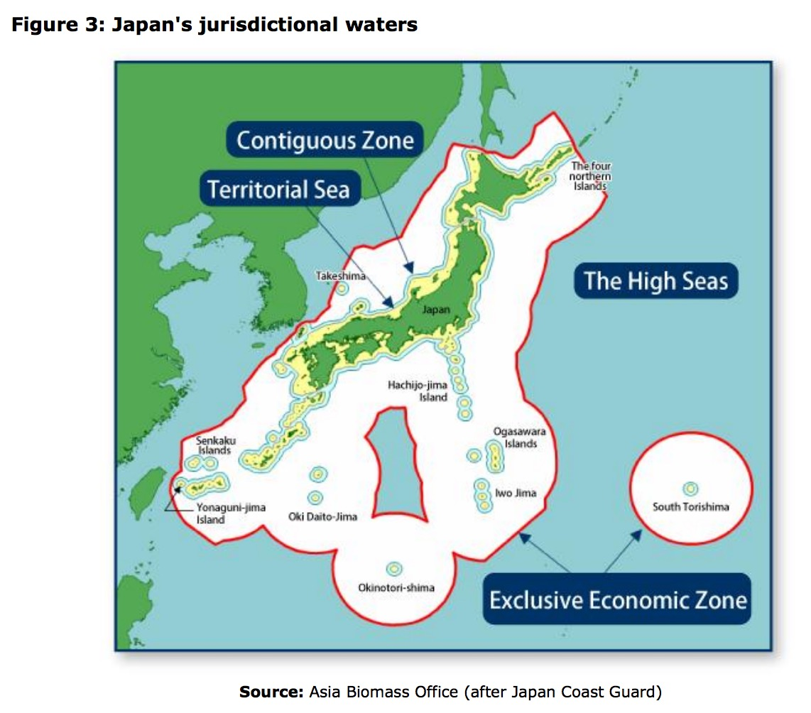 This 2013 European Parliament Report On Japanese Fisheries Features A Map Of The Japanese Eez Exclusive Economic Zone And Lists Ongoing Disputes In A
