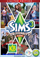 Free Download The Sims 3 University Life Full Version Terbaru 2013 (PC)