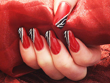 01 sharp nails red nails Nails in red nail art manicure with decorations manicure in red French manicure in red care for nails