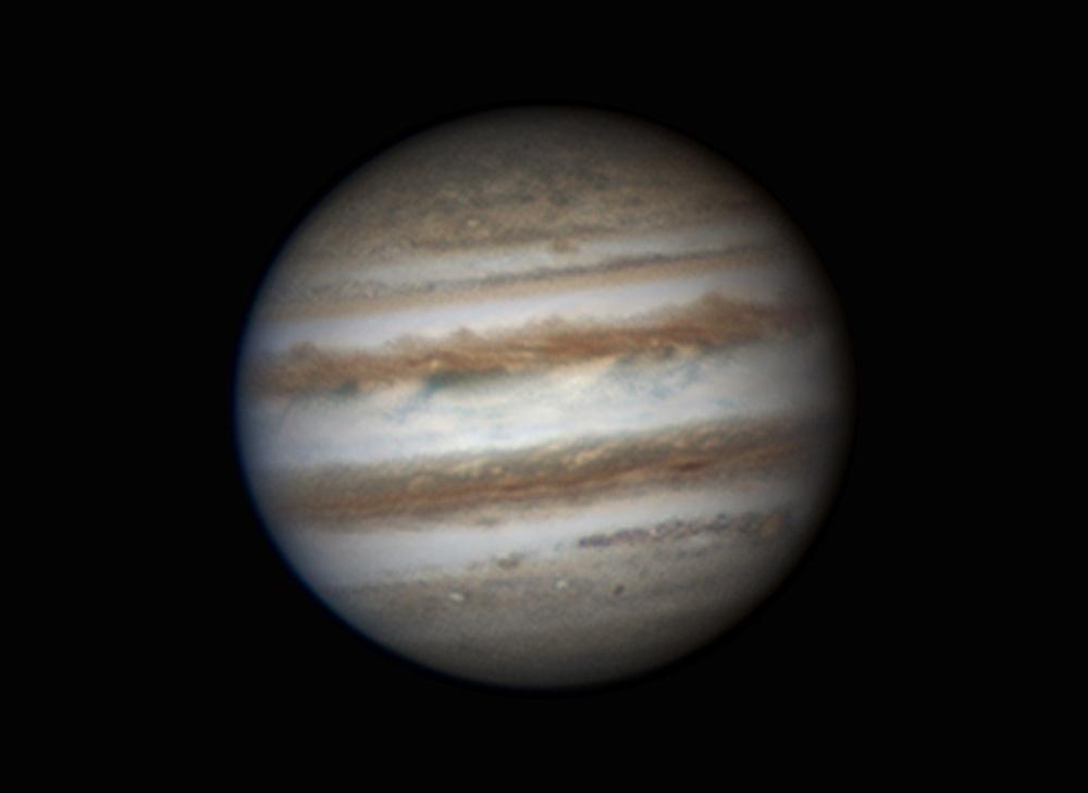 Hành tinh Mộc nhìn qua kính thiên văn. Tác giả : Efrain Morales Rivera.