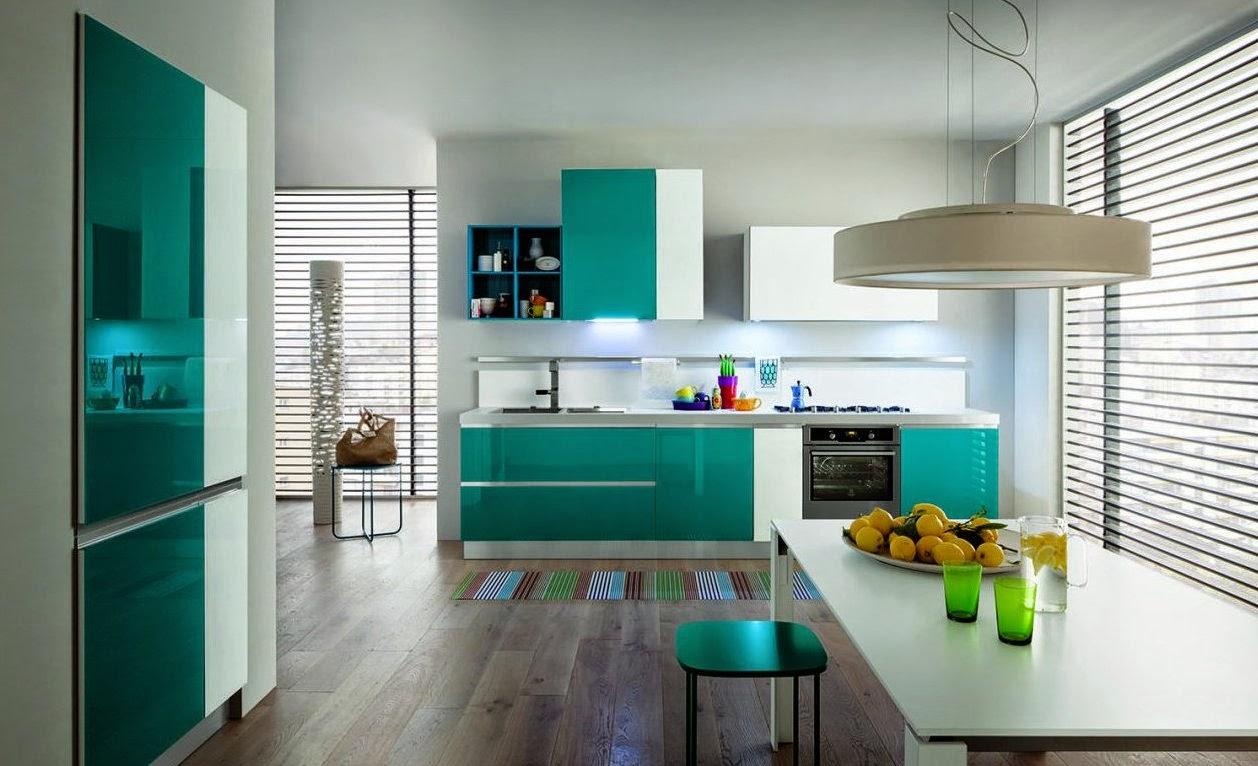 50 ideas de c mo combinar los colores en la cocina - Colores de muebles ...