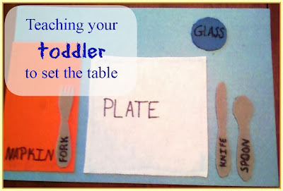 toddler manners table setting DIY placemat