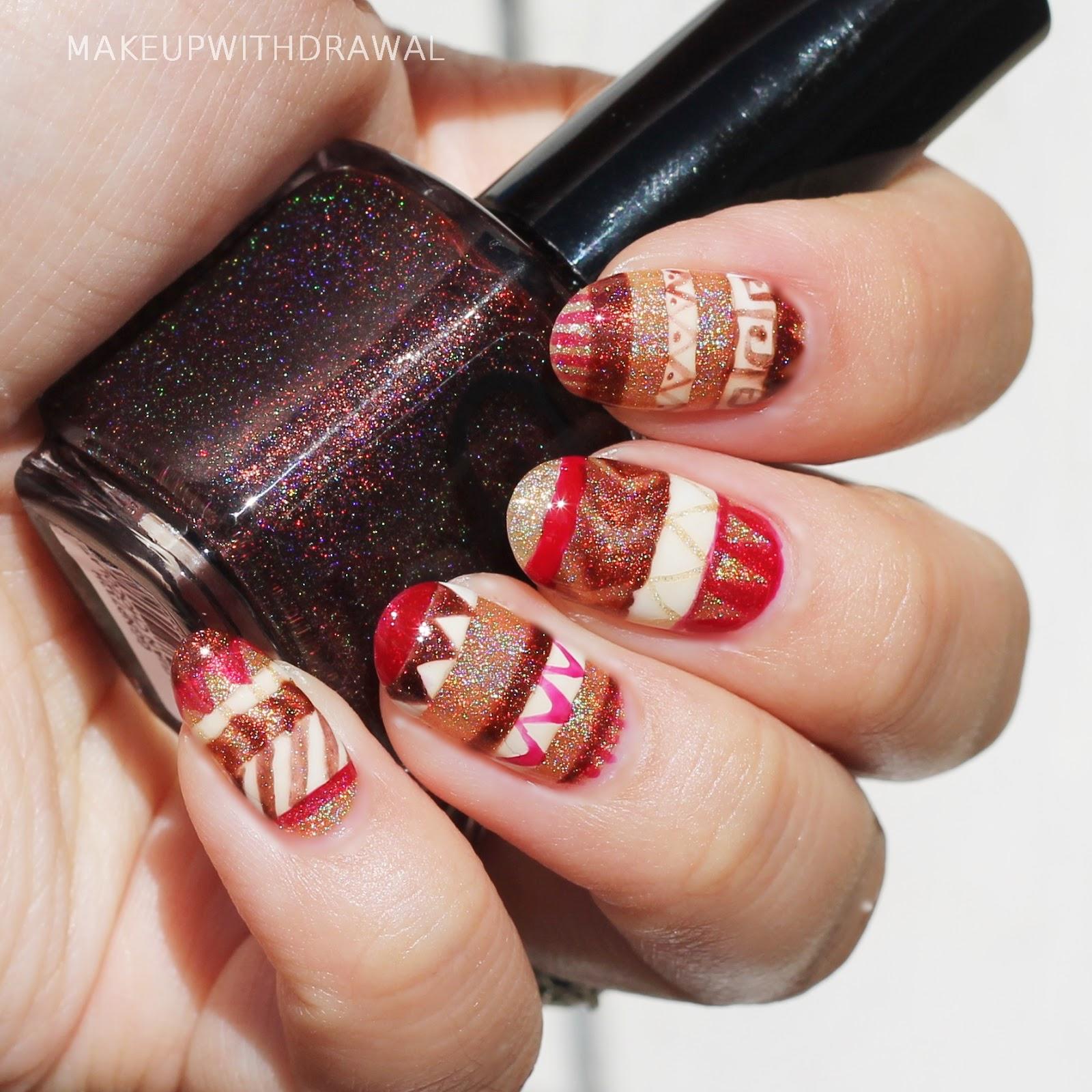 Glitter Gal Pysanky Nails | Makeup Withdrawal