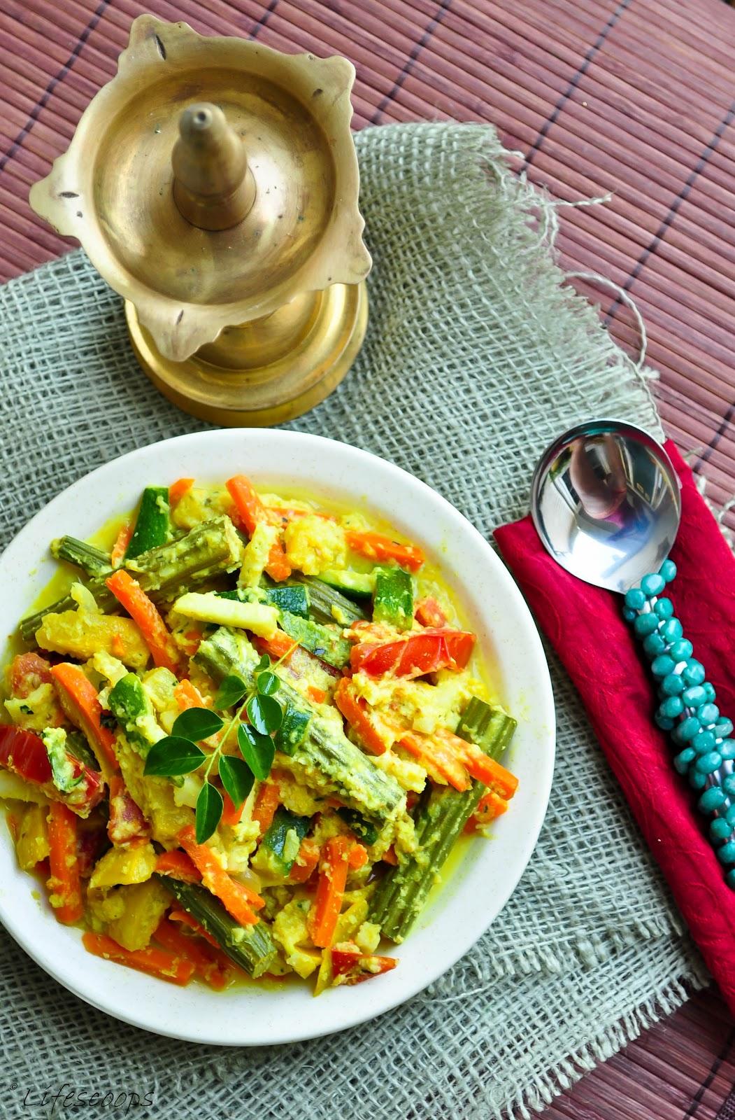 Life scoops kerala style avial mixed vegetables in coconut and kerala style avial mixed vegetables in coconut and yogurt sauce forumfinder Gallery