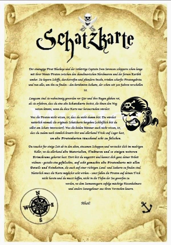 Kunst Und Umzu Piraten Schatzkarten Und